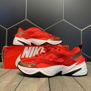 New Womens Nike M2K Tekno Red Suede Shoe